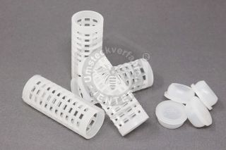 10 x roller cage with feed plugs